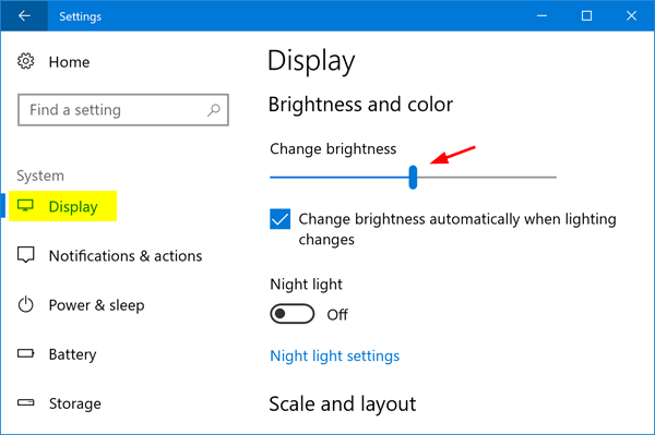 Tricks to adjust brightness on windows 10. 1