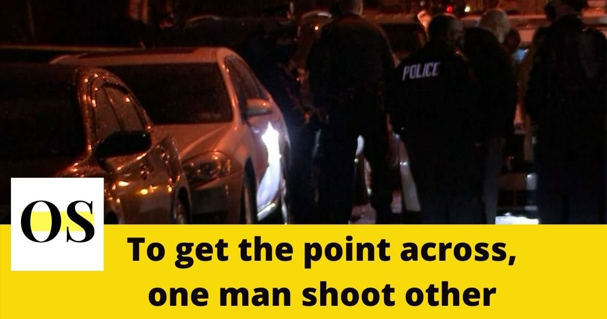 One man shot the other when he refused to accept the argument 1