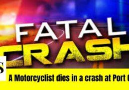 A Motorcyclist dies
