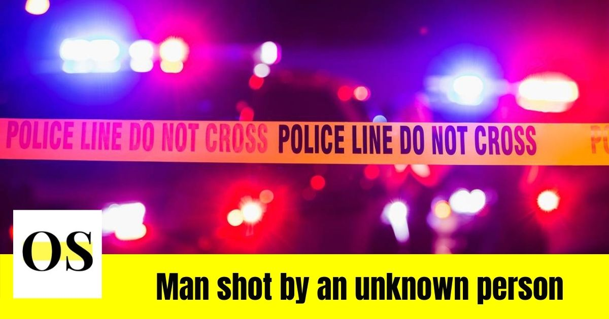 A man shot showed up