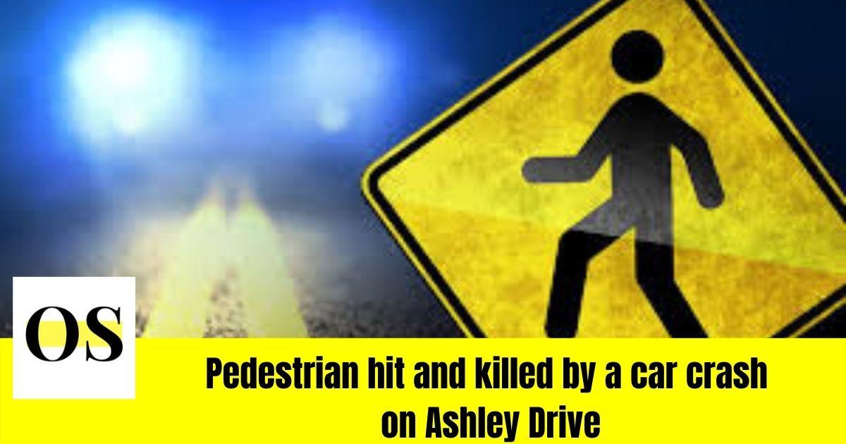 Crash on Ashley drive kills a pedestrian