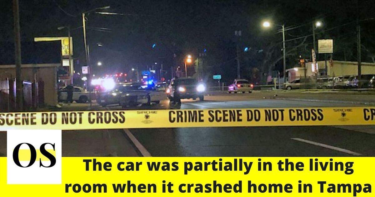 Car slammed into a home