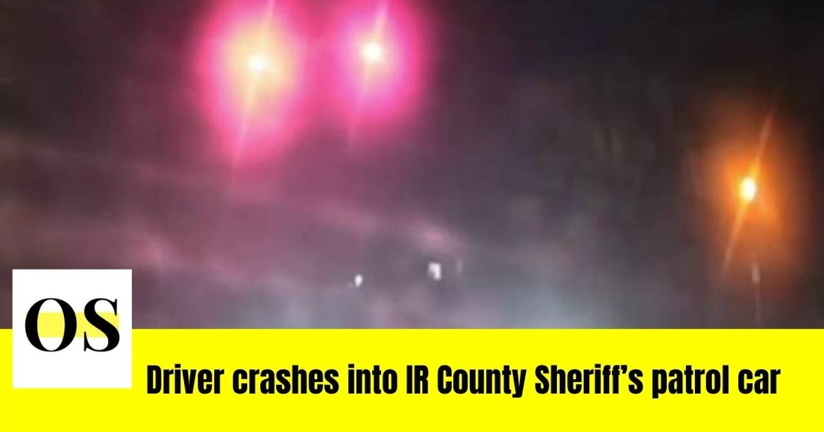 driver collides with Florida Deputy's cruiser