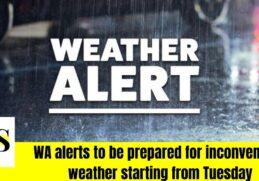 alerts of a Dramatic temperature shift