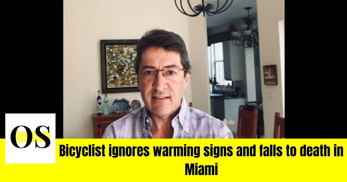 Bicyclist ignores warming signs and falls to death in Miami