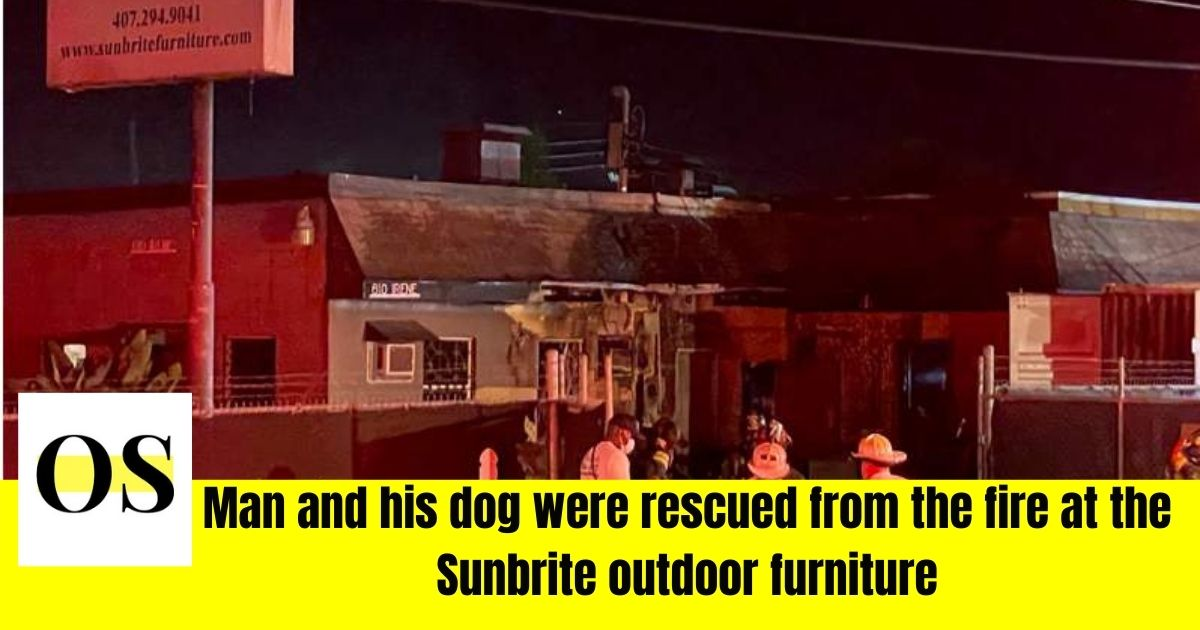 A man and his dog was rescued by the crews