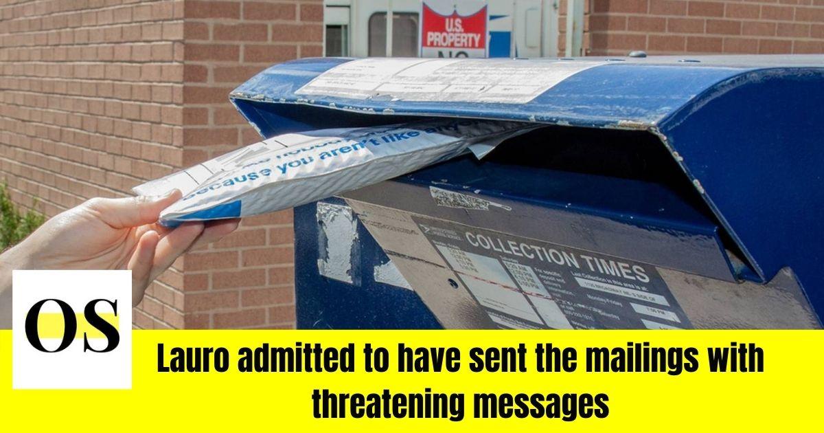 mailing white powder to schools