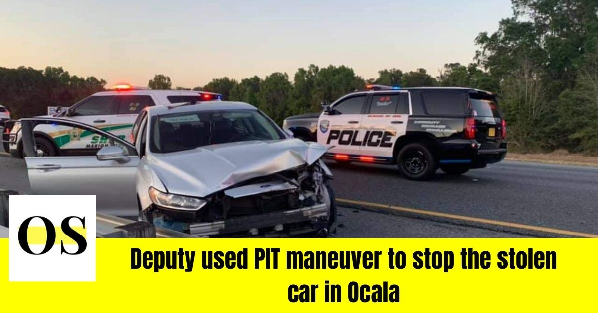 Driver of a stolen car arrested in Ocala