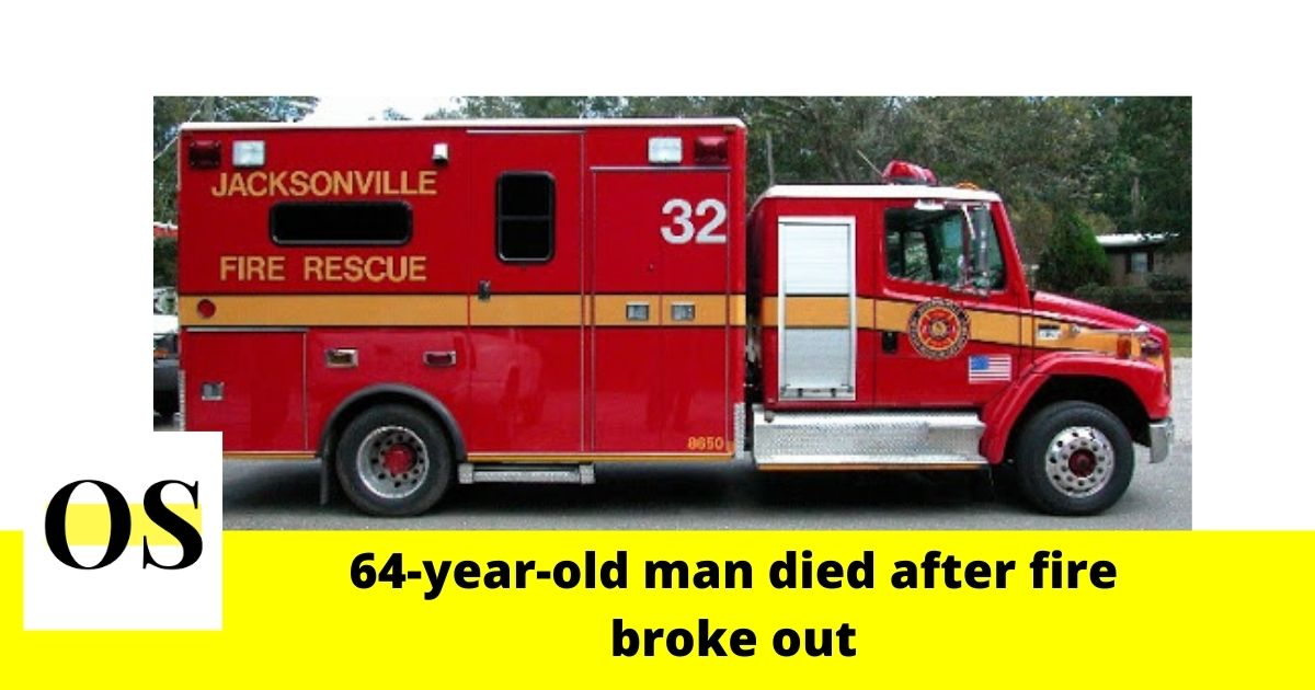 64-year-old man died after fire broke out in Jacksonville 1