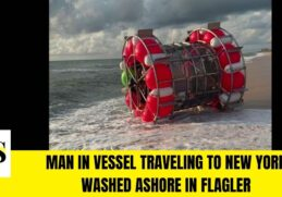 Man in vessel traveling to New York washed ashore in Flagler