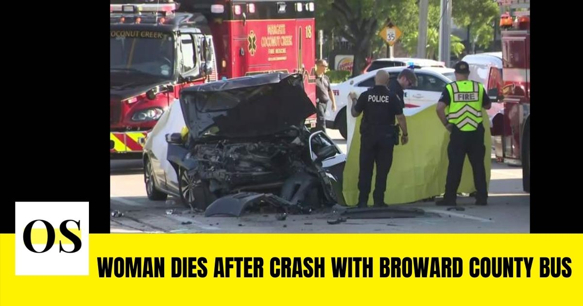 Woman dies after crash with Broward county bus