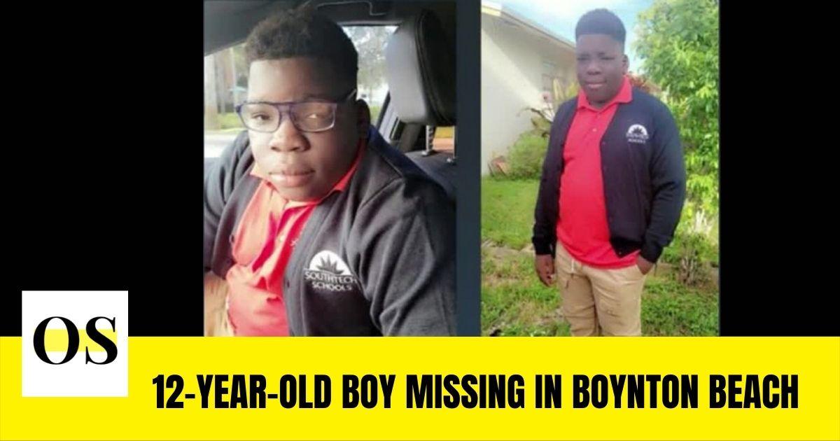 12-year-old boy Markus Eizner Etienne is missing from Boynton Beach
