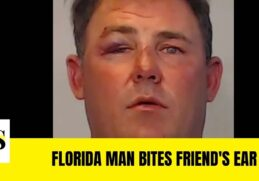 Florida man arrested for biting off part of his friend's ear